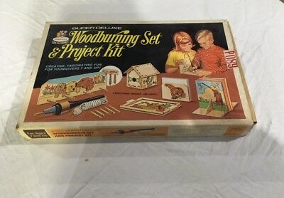 Vintage Rapco Super Deluxe Woodburning Set & Project Kit model # 6910S FAST SHIP