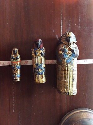 King Tut Sarcophagus - Consists Of Three That Fit Inside Each Other Magnet Lids