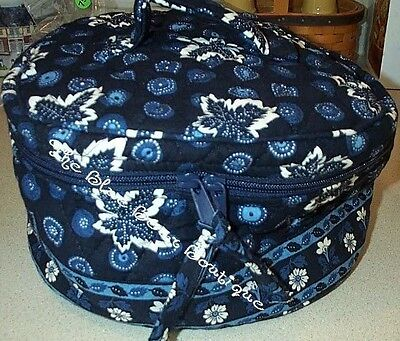 Vera Bradley Retired Blue Coin Travel Cosmetic