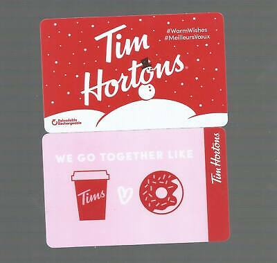 Tim Horton's Gift Cards     Warm Wishes - We Go Together