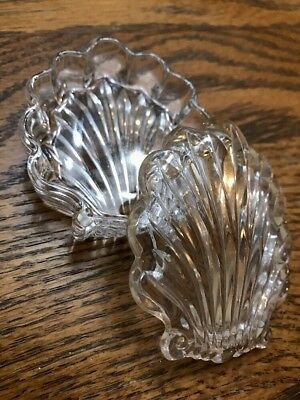 Clear Glass Seashell Shell Trinket Box With Lid