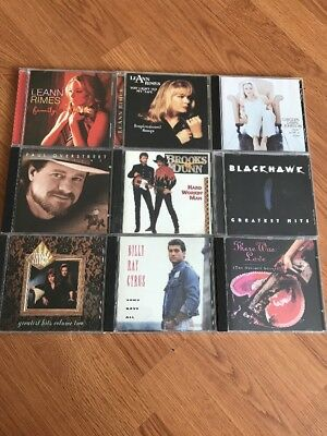 Country - Leann Rimes Brooks And Dunn Paul Overstreet Judds Lot Of 9 Cd's