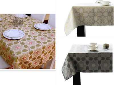 Assorted Sizes / Colors Jacquard fabric Tablecloths Polyester Holidays Blend New