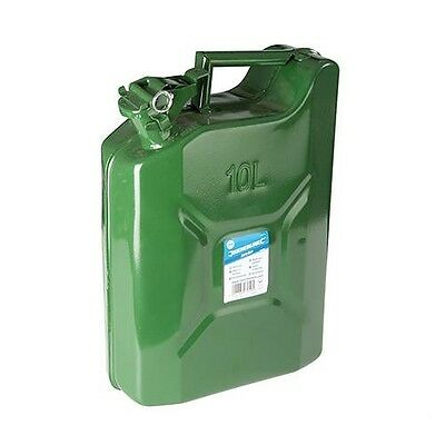Bidon Metallkanister 10 Litres Jerrycan Carburant Véhicule Personnel Métal