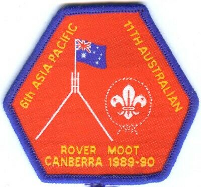 Australian Boy Scout 1989 6Th Asia-Pacific Rover Moot Canberra Badge