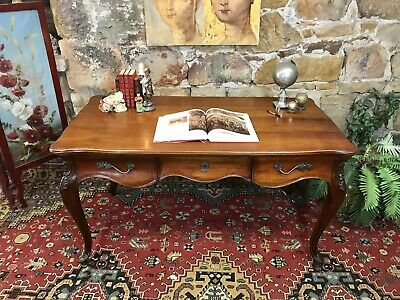 """Fine Vintage Antique French Louis Style """"Partners"""" Desk~Drawers~Office"""