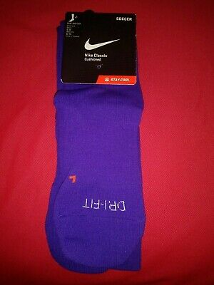 c4f23430e0b1 NIKE PERFORMANCE SOCCER DRI-FIT Cushioned Crew Socks Men s Size 6-8 ...