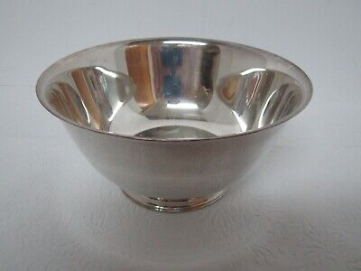 "Paul Revere Reproductions Wm A. Rogers 6"" Footed Silver Plate Bowl - Excellent!"