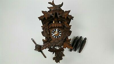 Vintage musical dancing animated cuckoo clock - Regula movement
