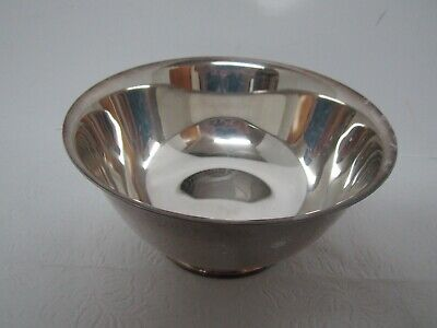 """Wm A. Rogers 6"""" Footed Silver Plate Bowl- Paul Revere Reproductions - Vgc"""