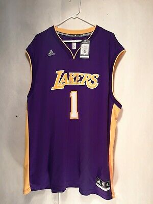 0a012c92805 NBA Los Angeles Lakers DAngelo Russell #1 Mens Replica Home Jersey,  XXX-Large