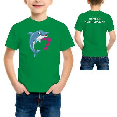 9th Birthday Shirt Dolphins Gift for Boys And Girls T-Shirt 9 years