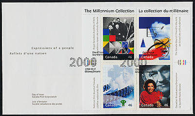 Canada 1821 on FDC - National Film Board, CBC, Academy of Arts, Canada Council