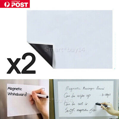 2X A4 Fridge Magnetic Whiteboard Family Office Board Memo Reminder Magnet NEW