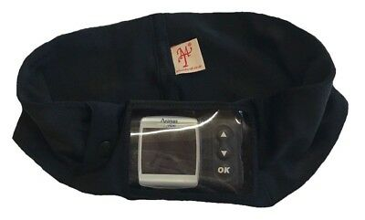 Window Insulin Pump Waist band Pouch / Case Black