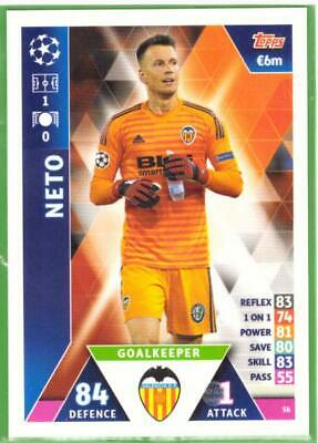 Topps Match Attax Champions League 2018-2019 Card No.56 Neto