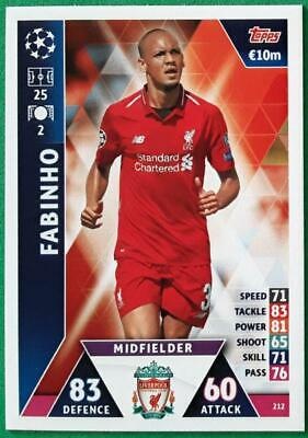 Topps Match Attax Champions League 2018-2019 Card No. 212 Fabinho