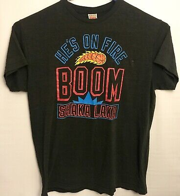 23b4613c5 Vintage NBA JAM T Shirt Mens XXL Boom Shaka laka He s on Fire Charcoal By  Homage