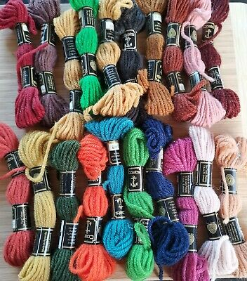 Coats Anchor Tapestry Wool - Bags of 20 mixed coloured Skeins