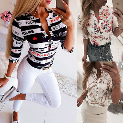 Ladies Women Lace Floral See-through High Neck T-Shirt Blouse OL Tops Tee 6-16