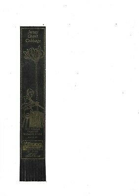Leather Bookmark - Jersey Giant Cabbage, Channel Islands.