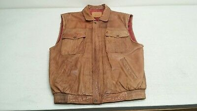 Vintage Levi Strauss co Levi's Brown Leather Vest Size LARGE San Francisco