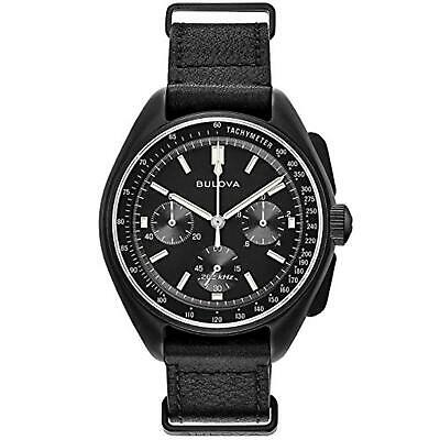 Bulova Special Edition Lunar Pilot Chronograph Leather Watch 98A186