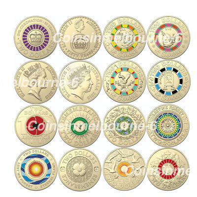 $2 Dollar - 2019 Mr Squiggle, 2018 Remembrance Day, Lest We Forget Coins UNC Aus