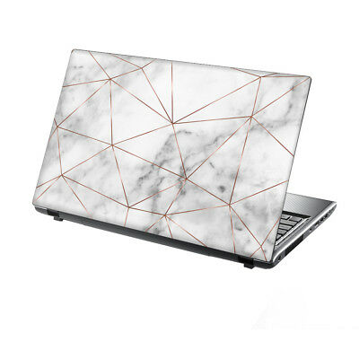 """TaylorHe Laptop Skin 13-14"""" Vinyl Sticker Decal Protection Cover Marble Metal"""