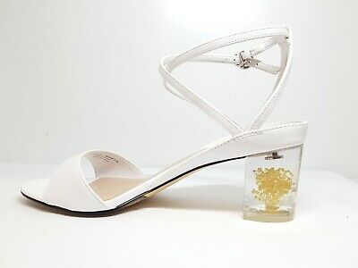 2b9148fcea BRS* Charles & Keith Womens White Floral Lucite Heel Sandals Eu Size 38