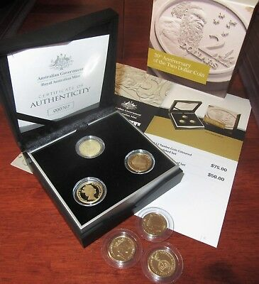 6 coins Ltd Ed 2018 30TH ANNIVERSARY OF THE 3 COIN $2 PROOF SET + UNC SET #767