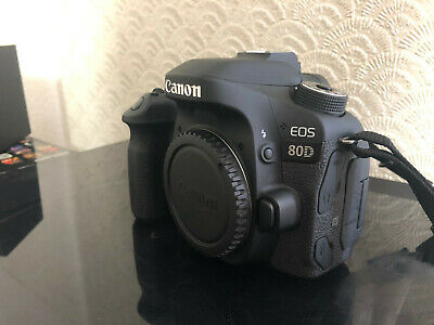 CANON EOS80D 24MP DIGITAL SLR CAMERA BODY & GRIP - Very Low Usage - EOS 80D