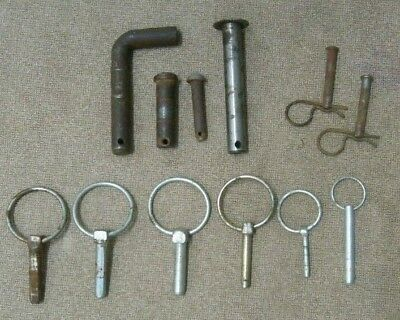 Clevis pins Variety lot Vintage antique fastener pins 12 total