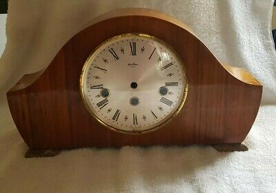 Vintage Wooden Bentima Mantle Clock Case