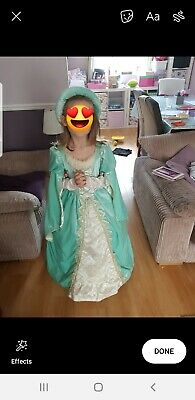 Girls Medieval Royal Queen Tudor Costume Kids Fancy Dress Historical Age 7 plus