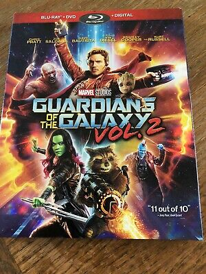Marvel's (MCU) Guardians of the Galaxy Vol. 2 (Blu-ray/DVD, 2017) w/slipcover
