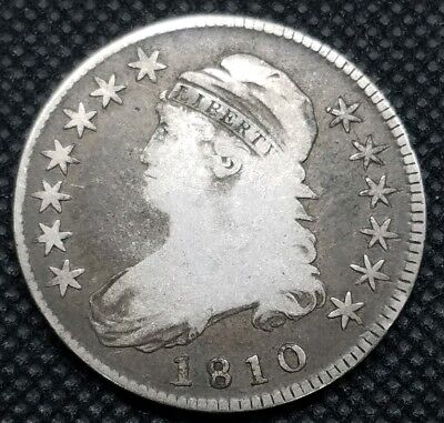 1810 Capped Bust Half Dollar | VERY GOOD | Great, Early Type Coin!