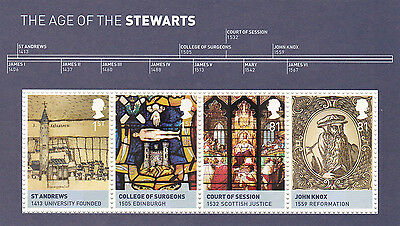 GB 2010 MS3053  The Age of the Stewarts. Kings & Queens series. MNH