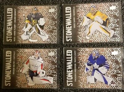 2018-19 Upper Deck 4 Card Lot Stonewalled Insert Goalie Series Marc Andre Fleury