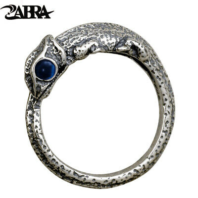 ZABRA Vintage Retro 925 Silver Lizards Little Finger Ring Men Women Steampunk