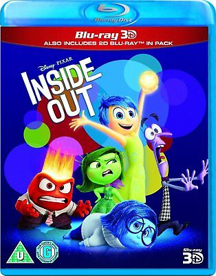 Inside Out 3D (3D + 2D Blu-ray, 2 Discs, Region Free) New! Sealed!