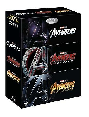 Avengers: Avengers, Age of Ultron, Infinity War Blu-ray Movie Collection Box Set