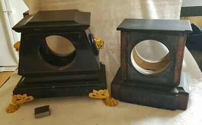 victorian slate mantle clock cases
