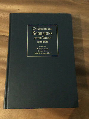 Catalog of the Scorpions of the World (1758-1998)