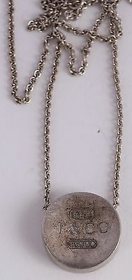 Tiffany & Company Co 2004 necklace, chain, round bar pendant fine heavy