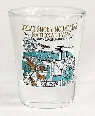 Great Smoky Mountains North Carolina Tennessee National Park Series Shot Glass
