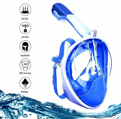 Full Face Snorkel Mask Diving Goggles Snorkeling Gear Scuba Dive Anti Fog S-M