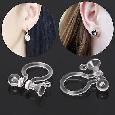 7d1bfe537 50PCS Invisible Resin Earring Clips For Non Pierced Ears With Hole Jewelry  DIY