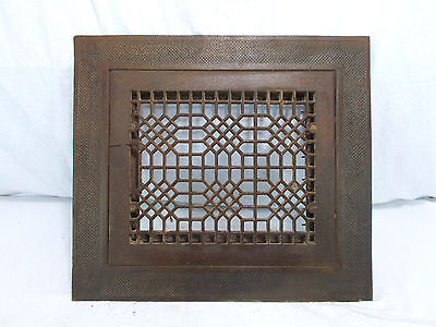 Antique Vintage Craftsman Cast Heat Grate Register Vent Architectural Salvage