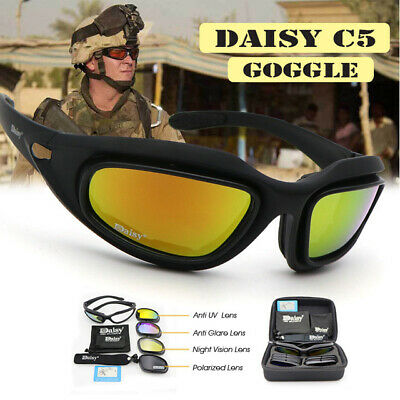 fcf1e6b79b8b Daisy C5 Military Shooting Tactical Bullet-proof Army Polarized Sunglasses